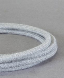 pale grey fabric cable for lighting