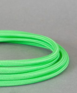 Zesty Green Fabric Cable Lighting Wire 8 Amp 3 Core