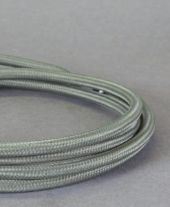 Fabric Cable for Lighting Dark Grey 8 Amp 3 Core CE Certified