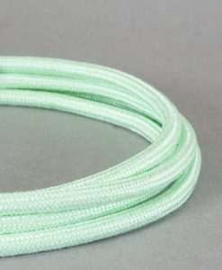 Pale Green Fabric Cable for Lighting 8 Amp Double Insulated