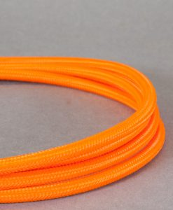 Orange Fabric Cable for Lighting 8 Amp CE Certified