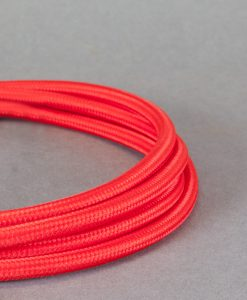 Red Fabric Cable for Lighting 8 Amp 3 Core CE Certified