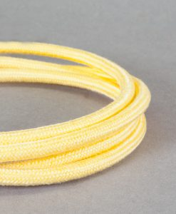 Pastel Yellow Fabric Cable for Lighting 8 Amp Pale Lemon