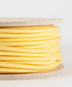 fabric lighting cable pastel yellow