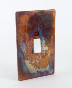 Cooker Switch 45 Amp Tarnished Copper & White