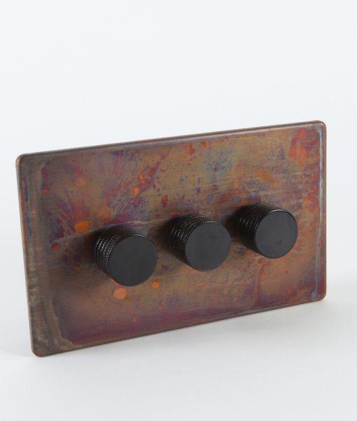 designer dimmer switch treble copper black switch. Black Bedroom Furniture Sets. Home Design Ideas