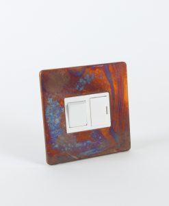 Fused Spur Switch Tarnished Copper & White