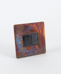 Fused Spur Switch Tarnished Copper & Black
