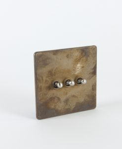 toggle light switch 3 toggle smoked gold & silver