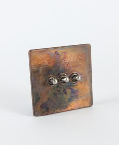 Toggle Light Switch 3 Toggle Copper & Silver Switch