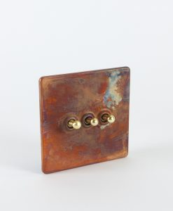 Toggle Light Switch 3 Toggle Copper & Gold