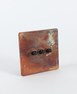 Toggle Light Switch 3 Toggle Copper & Black Switch