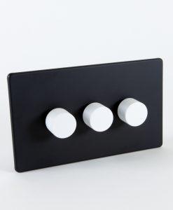 Designer Dimmer Switch Treble Black & White Switch