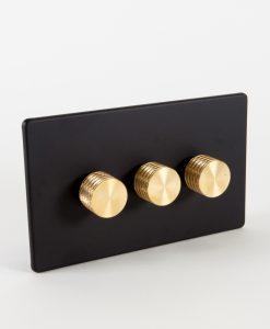 Designer Dimmer Switch Treble Black & Gold Switch