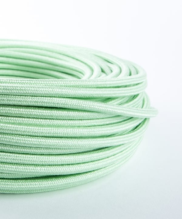 pale green fabric cable