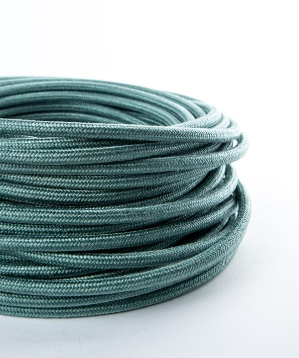 sage green fabric cable