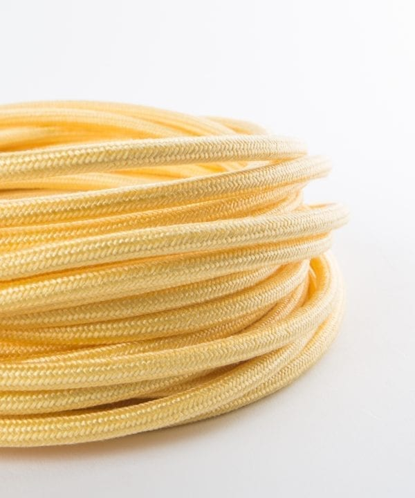 sherbet lemon fabric cable for lighting