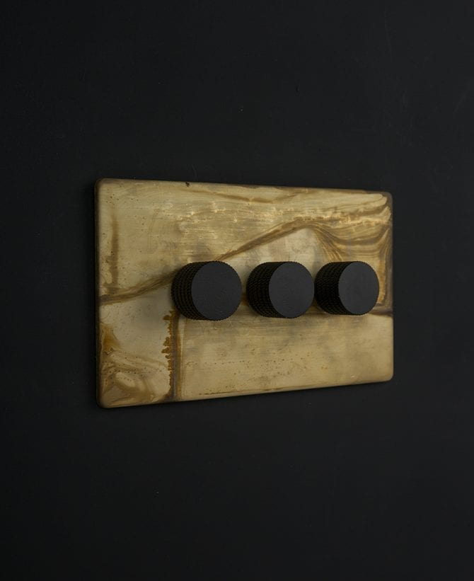 smoked gold & black triple dimmer