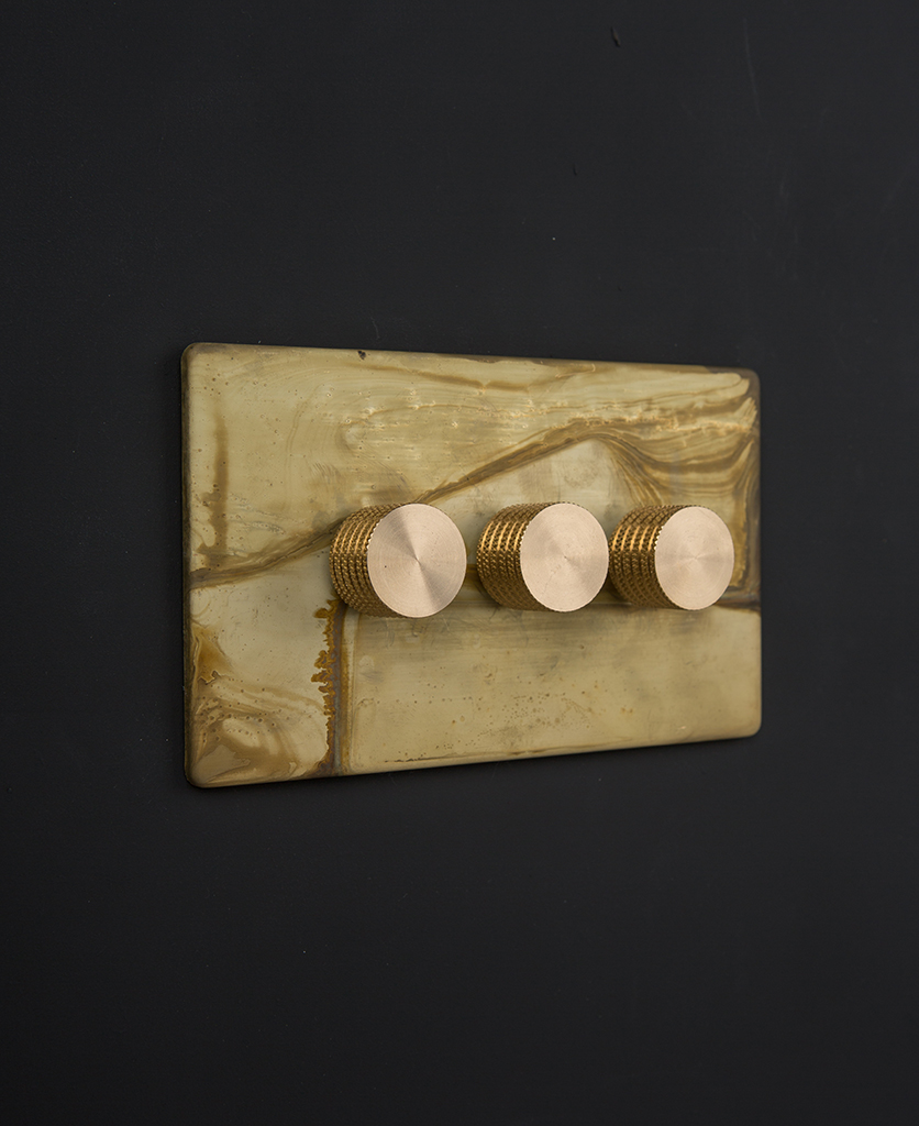 smoked gold & gold triple dimmer