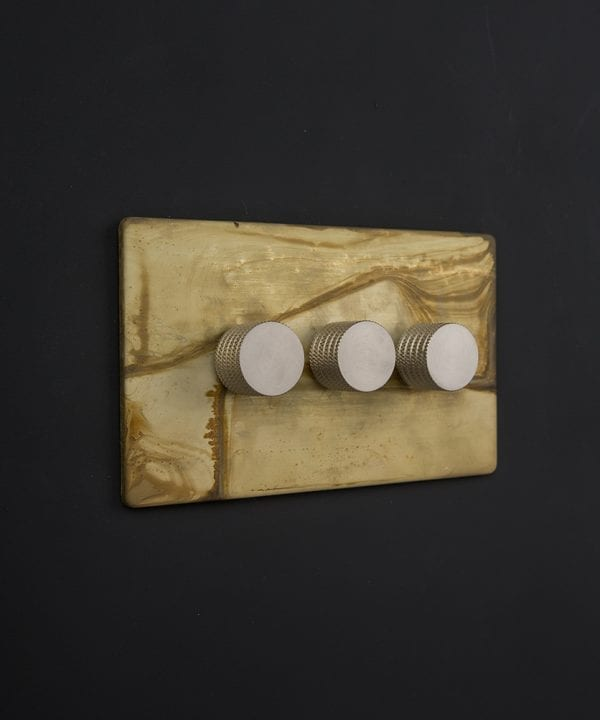 smoked gold & silver triple dimmer