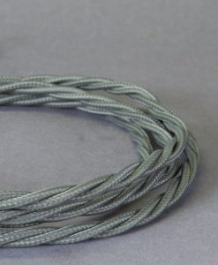Braided Fabric Cable for Lighting Dark Grey 8 Amp