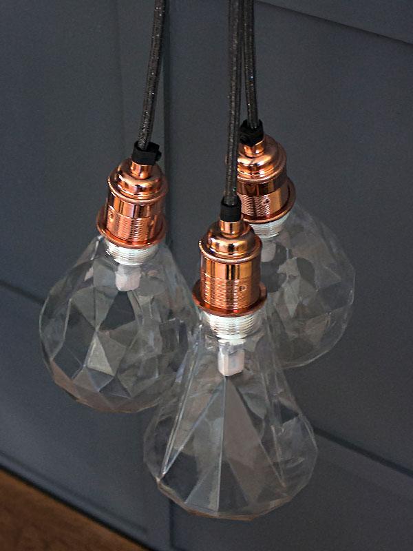 LED geometric light bulbs