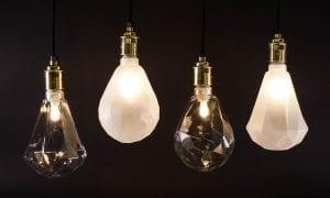 geometric LED light bulbs