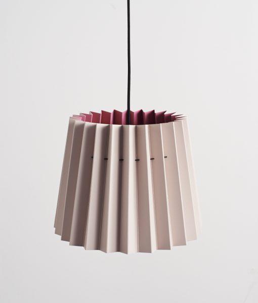 Little Greene lampshade peachblossom & carmine