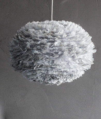 Feather Lampshade By Umage Eos Feather Ceiling Light