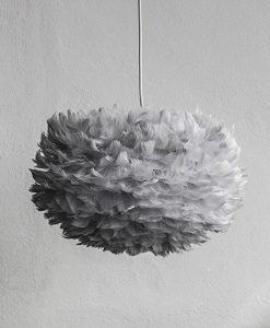 Medium Grey Feather Light Shade Vita Eos Handcrafted
