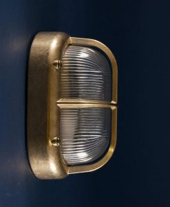 brian polished brass bulkhead light