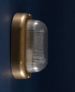 mike polished brass bulkhead light