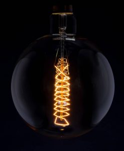 giant orb industrial bulb with spiral filament