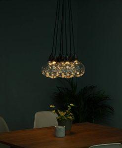 Concealed LED large globe light bulb vintage glow