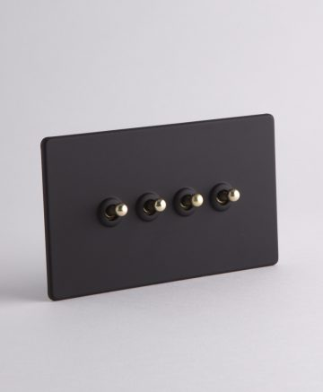 toggle light switch 4 toggle black & gold