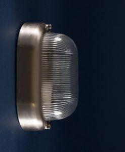 Bulkhead Light Mike silver industrial bathroom lighting