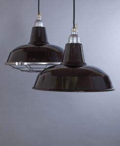 black enamel pendant light Burley