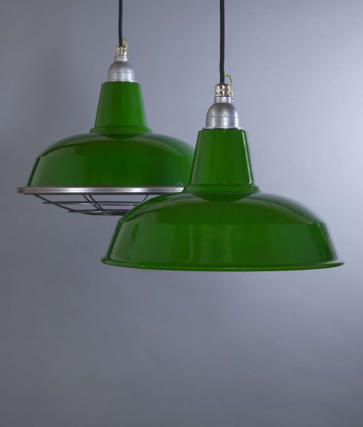 green enamel pendant light Burley