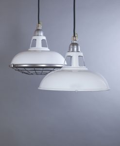 Industrial Lighting White Farsley Factory Style Ceiling Lights
