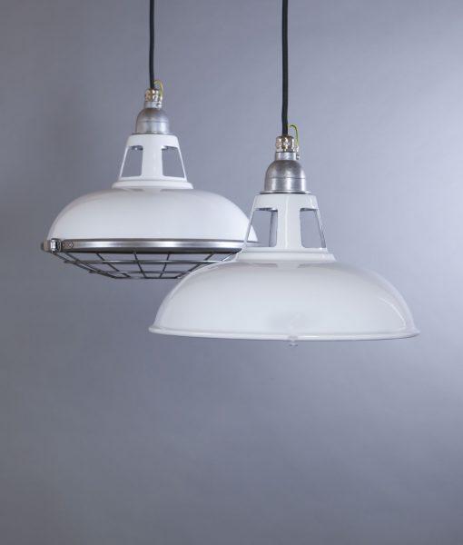 Enamel Pendant Light White Farsley Industrial Stye