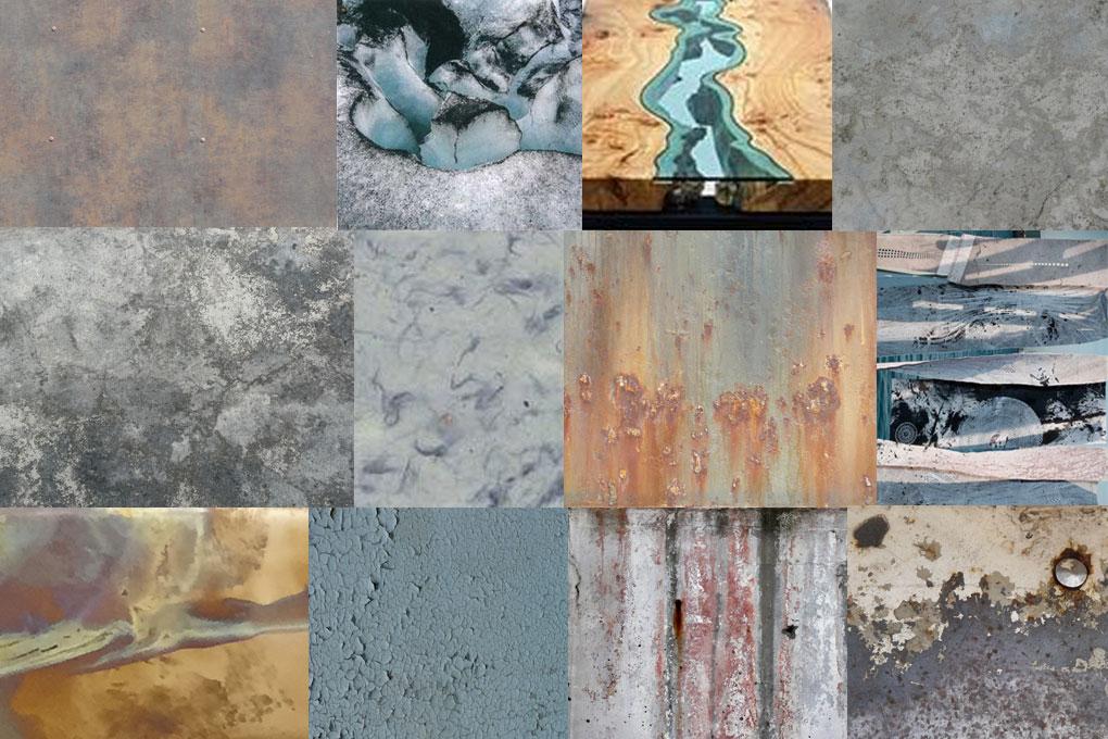 moodboard of raw materials
