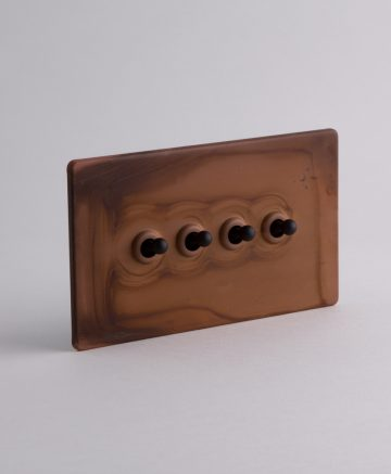 toggle light switch 4 toggle copper & black