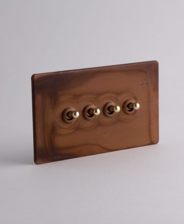 toggle light switch 4 toggle copper & gold