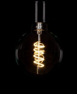 LED Filament Bulb Large Globe Spiral Warm Glow