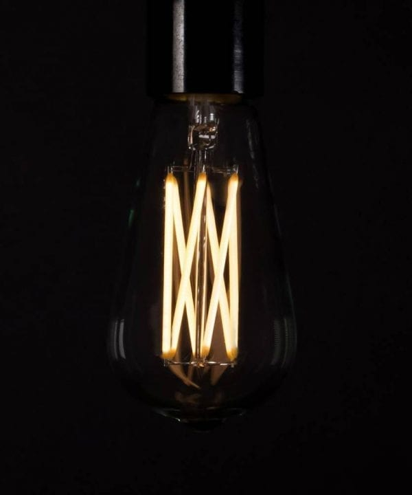 Large pear squirrel cage filament warm glow LED filament bulb