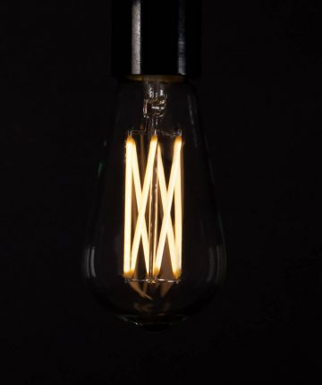LARGE PEAR Squirrel Cage Filament Warm Glow