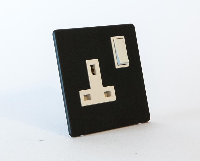 Black & White Plug Socket