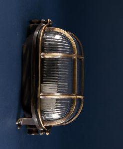 Bulkhead Light Dave Aged Brass industrial bathroom lighting
