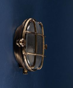 Bulkhead Light Mark Aged Brass industrial bathroom lighting