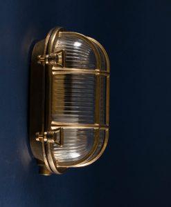 Bulkhead light Steve brass - industrial bathroom lighting